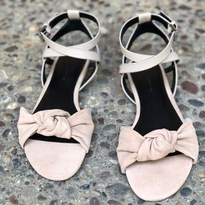Rebecca Minkoff flat sandals with ankle straps